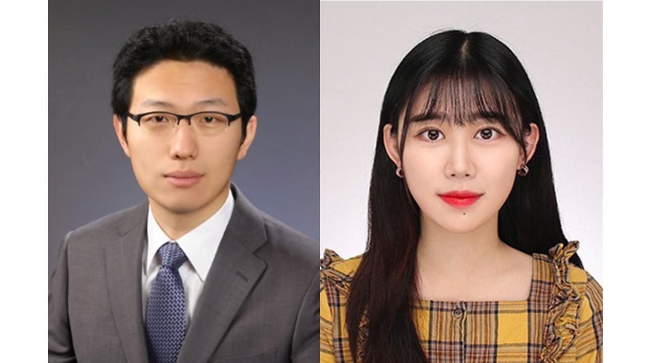 한밭대학교 창의융합학과 이재현 교수(왼쪽), 이서윤 학생